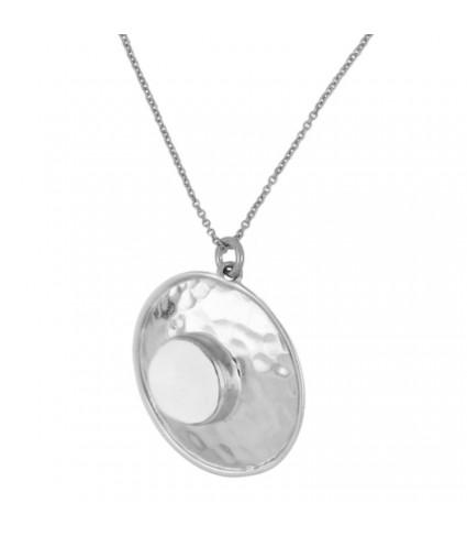 Collar Medalla Piedra Luna
