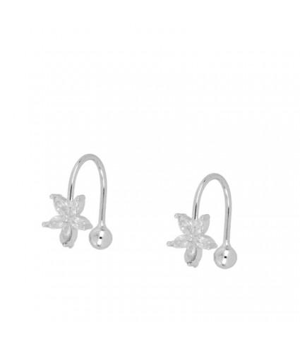 Ear Cuff Flor Circonitas (UNIDAD)