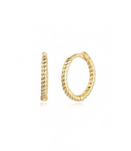 Aro Mini Twisted 14mm oro (UNIDAD)