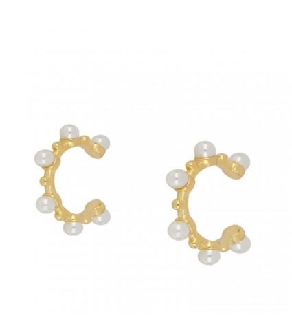 Ear Cuff Perlas oro (UNIDAD)
