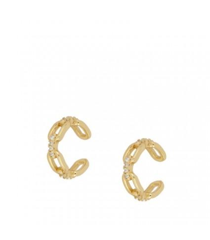 Ear Cuff Chain Circonitas oro (UNIDAD)