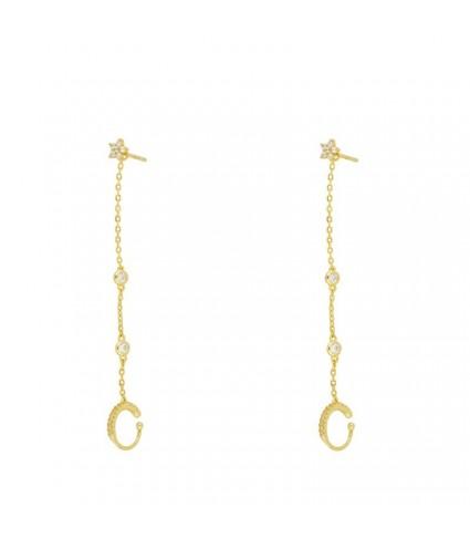 Ear Cuff Cadenita Circonitas oro (UNIDAD)