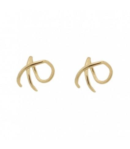 Ear Cuff cruzado Oro (UNIDAD)