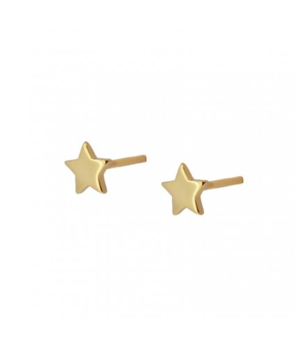 Pendiente Estrella Mini oro (UNIDAD)