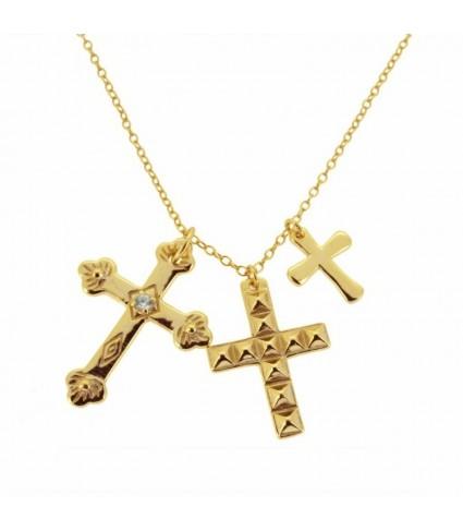 Gargantilla Tres Cruces oro